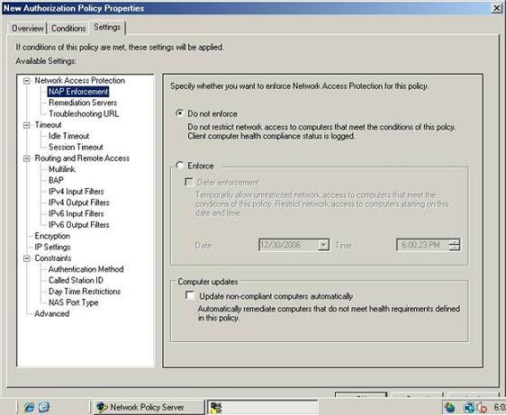 Рисунок C NAP не должно применяться к компьютерам, удовлетворяющим требованиям