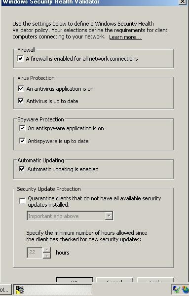 Рисунок 3: Поставьте галочку напротив поля A Firewall is Enabled for all Network Connections и уберите галочки из всех остальных полей