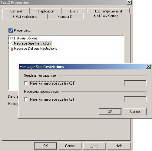 Ограничения для общих папок в Exchange Server 2007 SP1 (Beta)